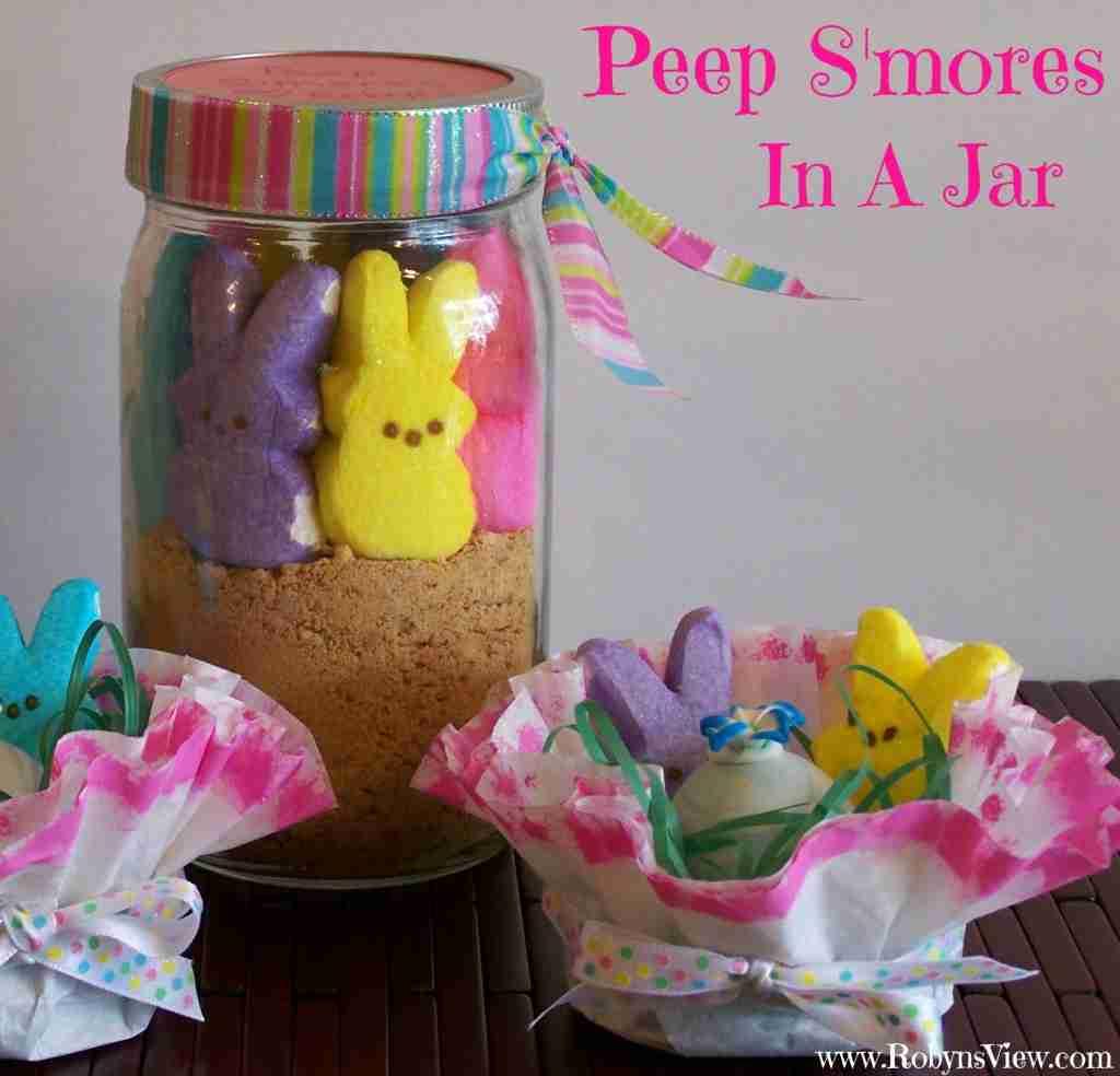 Peep Smores in a Jar