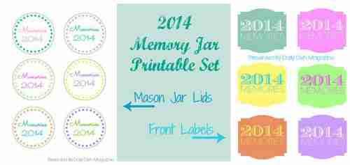 2014 Memory Jar Printable Label Set