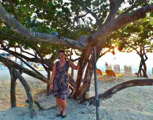 Me in my Karina Dress at MooMba Beach Aruba