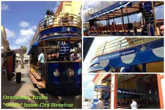 "Oranjestad's ""Green"" Trolley"