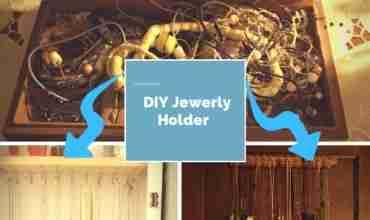 DIY Jewelry Holder - easy to make and inexpensive/ Daily Dish Magazine #DIY #jewelry