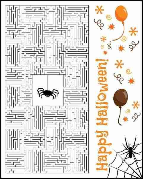 Free Halloween Corn Maze Printable Puzzle | Daily Dish Magazine ...