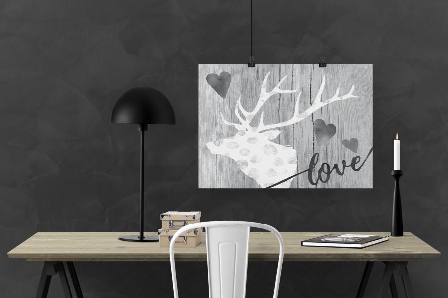 LOVE Elegant Deer Printable for Valentines Day