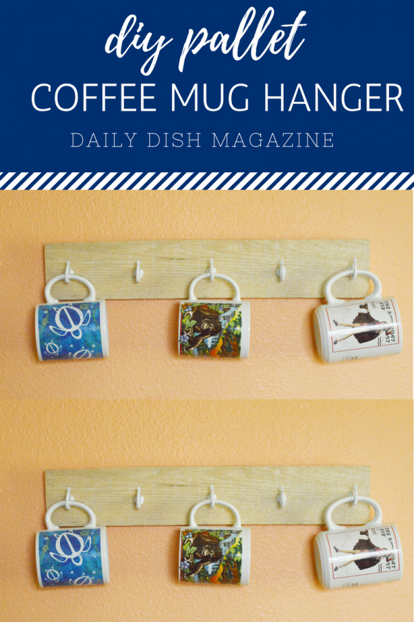DIY Homemade Pallet Coffee Mug Hanger