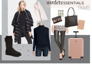 Comfortable Winter Travel Style Essentials