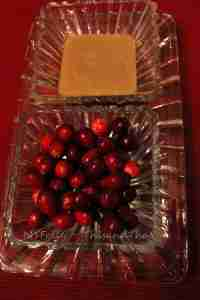 Fresh cranberries and caramel
