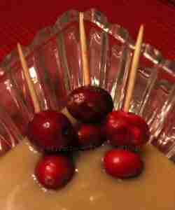Cranberries with Salted Caramel Dip