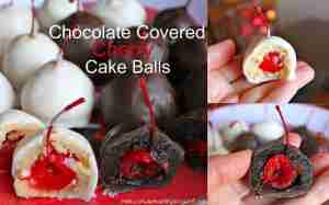 Chocolate Covered Cherry Cake Balls ~ a candy to make for the holidays