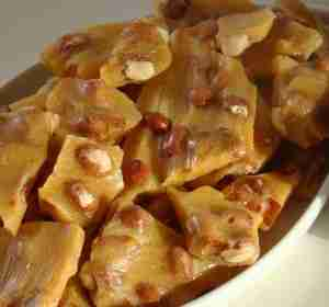 Microwave Peanut Brittle - a candy to make for the holidays