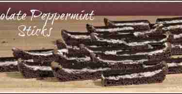 Chocolate Peppermint Sticks