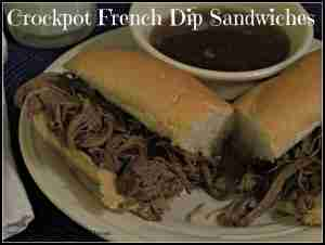Crockpot French Dip Sandwiches