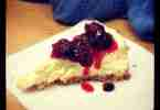 Goat Cheese Cheesecake with Cranberry Sauce Topping