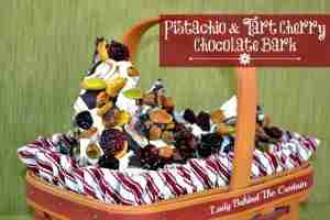 Pistachio & Tart Cherry Chocolate Bark ~ Candies to make for the Holidays