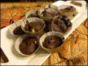 Sea Salt Chocolate Walnut Cups ~  candies to make for the holidays
