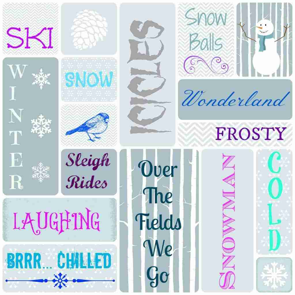 winter subway art printable