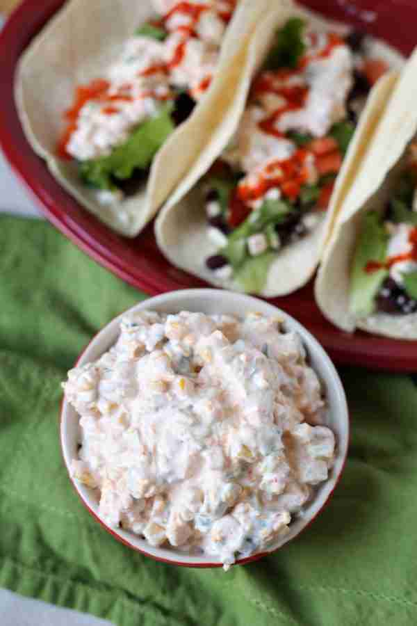 Street Tacos with Spicy Corn Dip