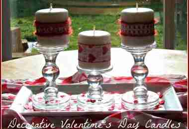 Decorative Valentine's Day Candles