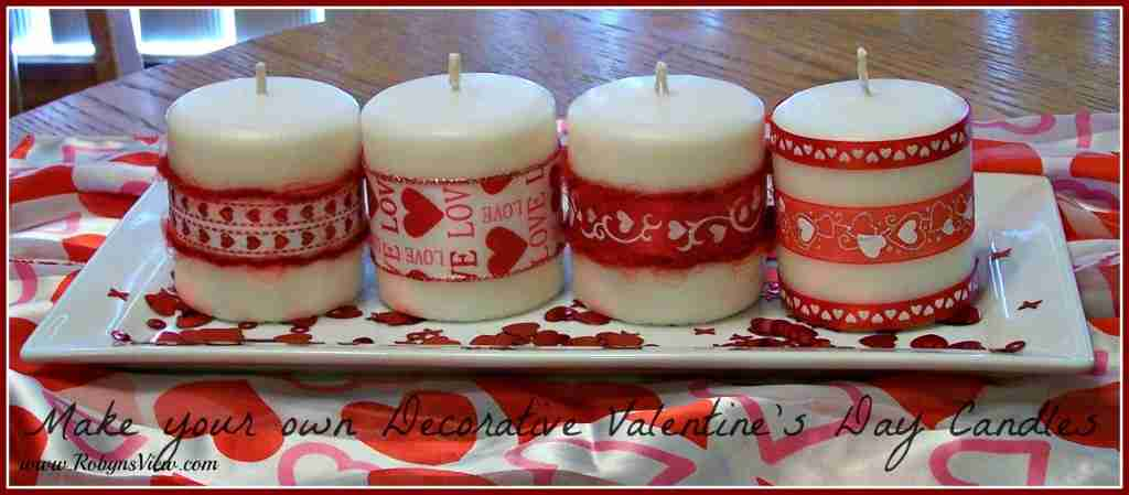 Make you own Valentine's Day Candles