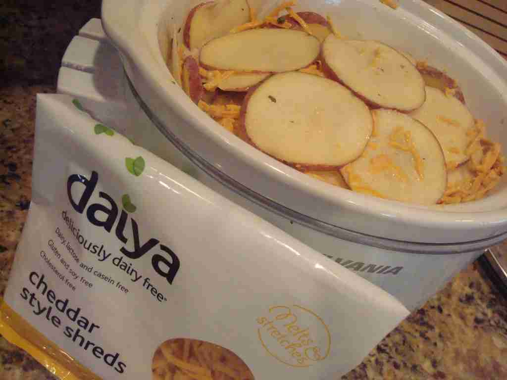 Daiya Vegan Cheese and Vegan Crock Pot Potatoes Au Gratin