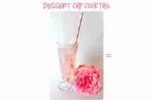 dessert cup cocktail