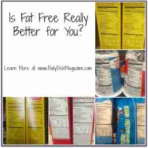 Is Fat Free Really Better for You