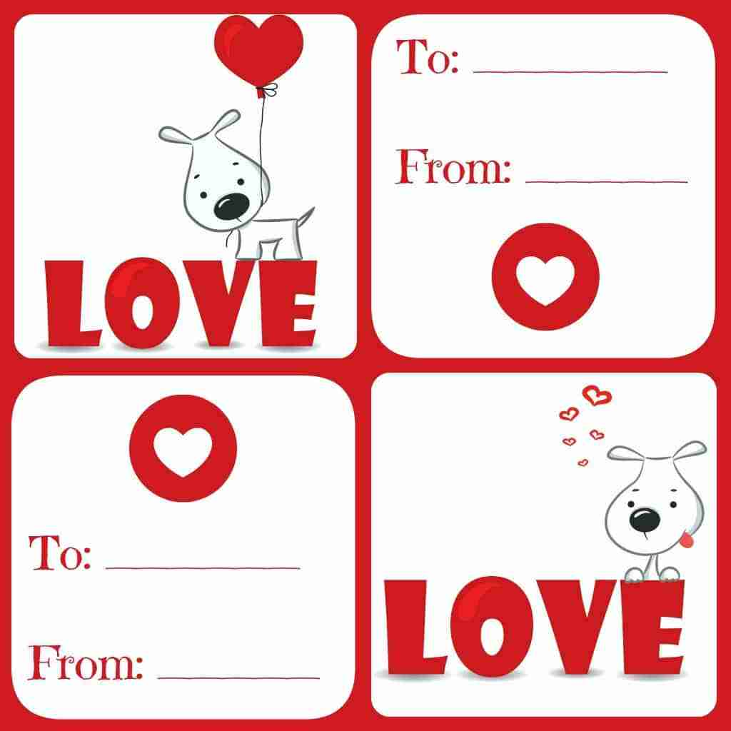 Free Valentines Card Printable for Kids Daily Dish with Foodie – Valentines Cards from Kids