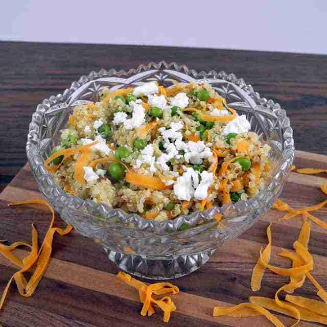 Spring Pea and Shaved Carrot Quinoa Salad