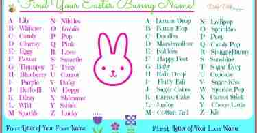 Easter Bunny Names