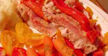 tuna and peppers with cumin
