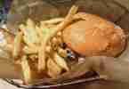 Chicken Burger at Farm Burger Decatur, GA