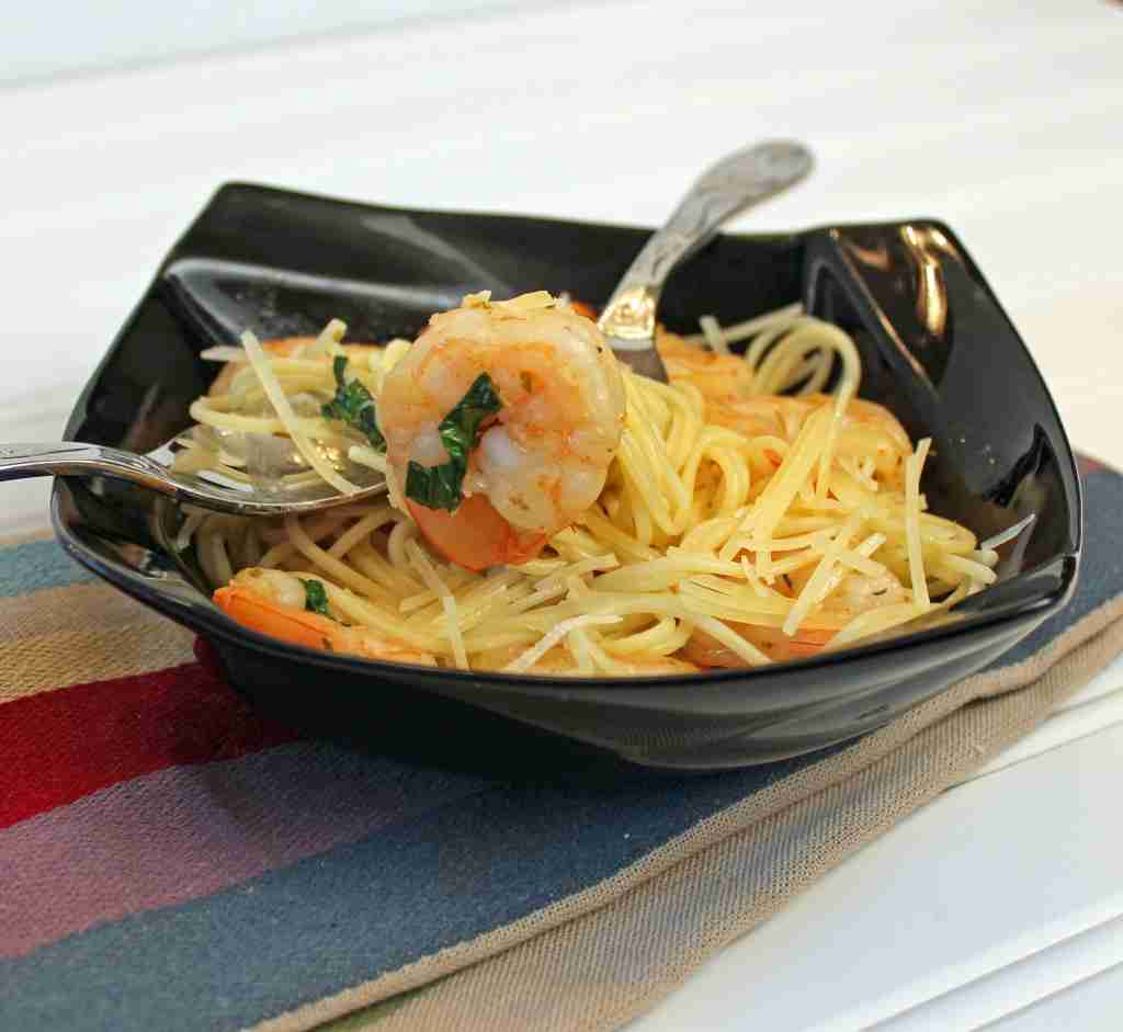 super quick shrimp pasta