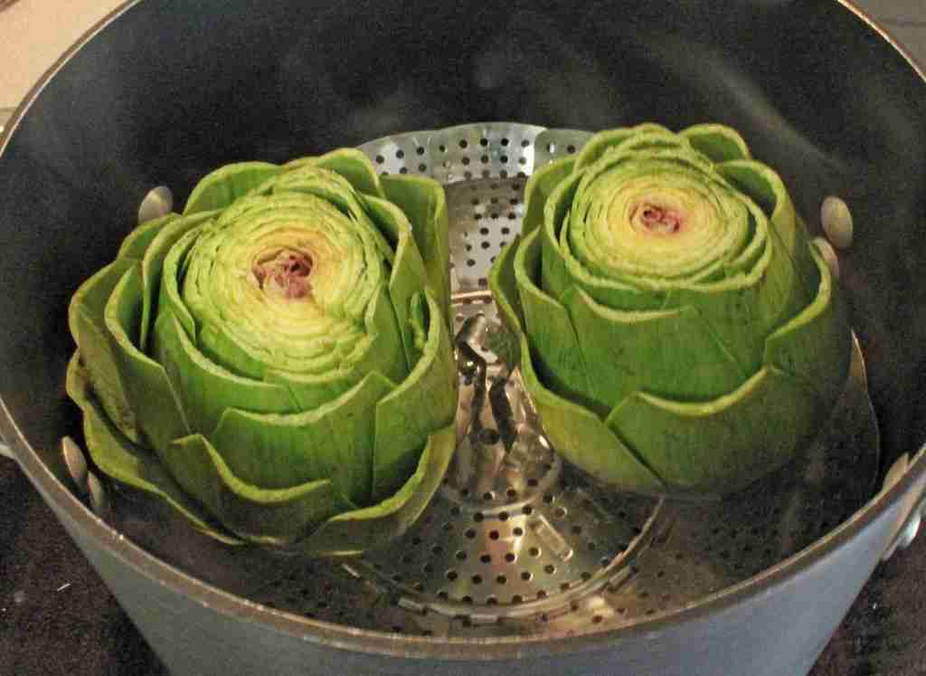 Steam the artichokes until tender (about 40 minutes), and serve with ...