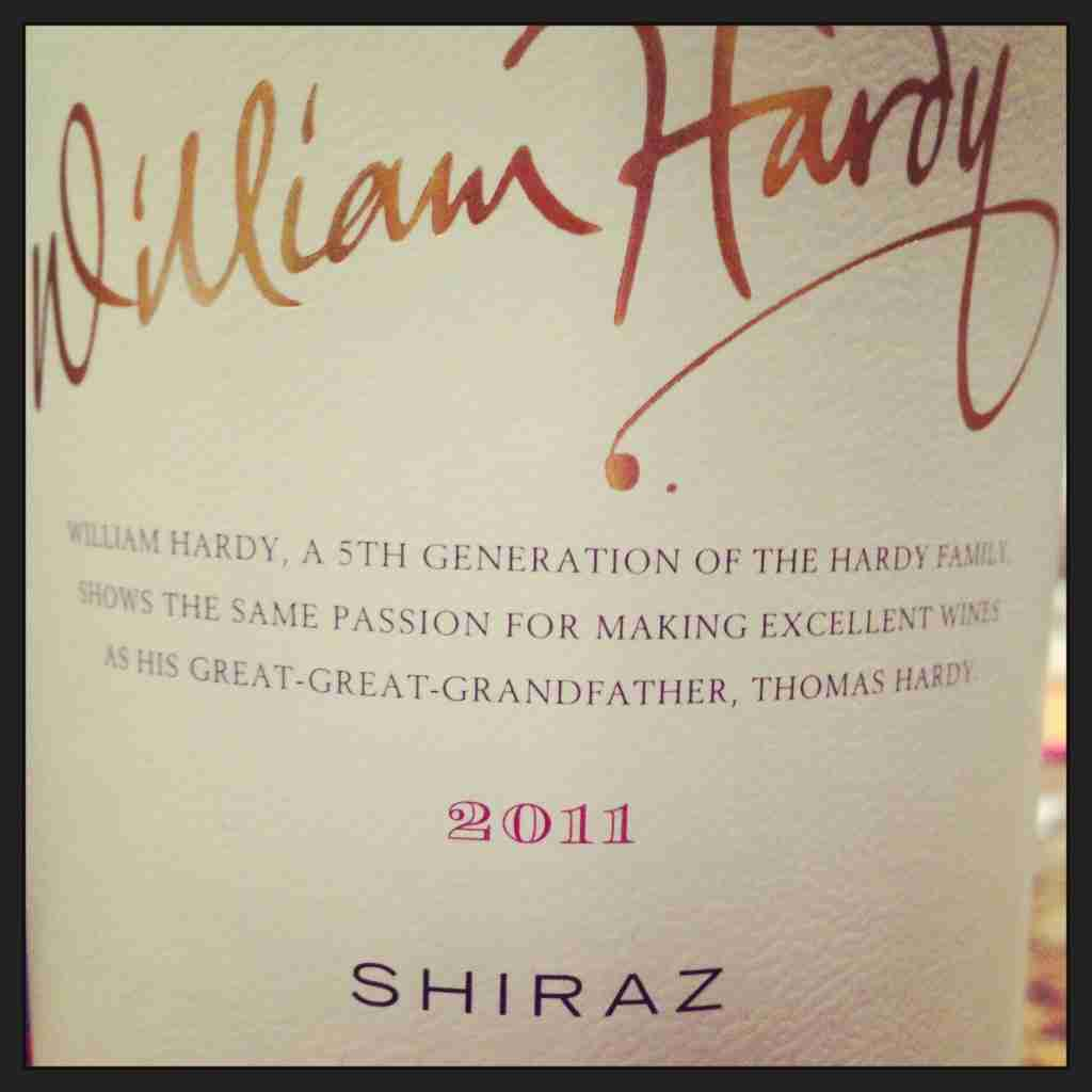 William Hardy 2011 Shiraz