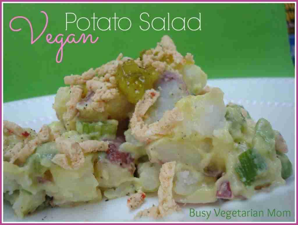 Vegan Potato Salad via Busy Vegetarian Mom