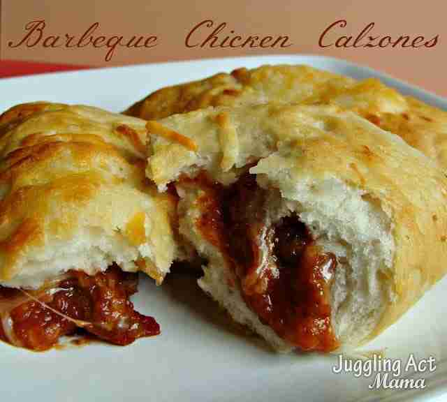 Crock Pot BBQ Chicken Calzone Via Juggling Act Mama