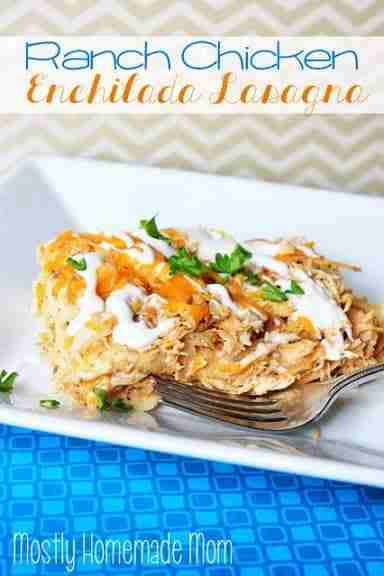 Ranch Chicken Enchilada Casserole Via Mostly Homemade Mom