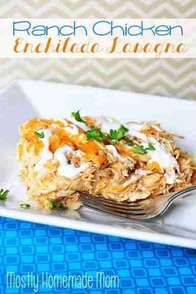 Ranch Chicken Enchilada Casserole Via Mostly Homemade Mom