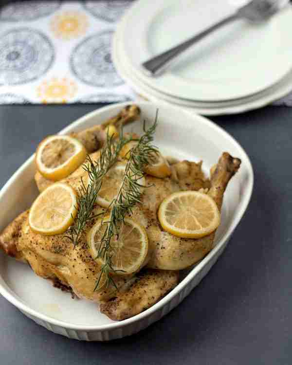 Crock Pot Lemon Rosemary Chicken Via This Gal Cooks