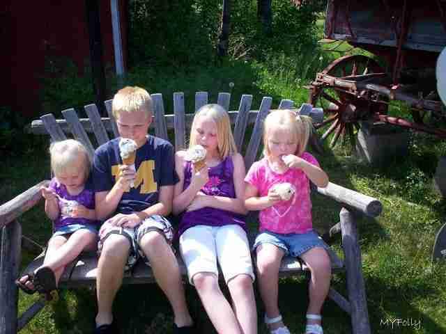 Ice cream at Copper Harbor