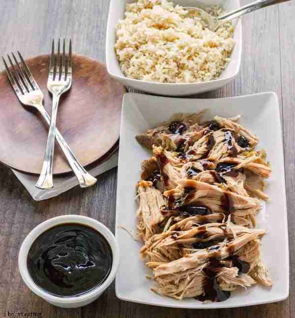 Slow Cooker Balsamic Pork Via I Heart Eating