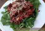 Warm Raspberry Spinach Salad