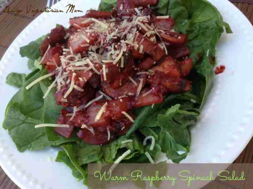 Warm Raspberry Spinach Salad
