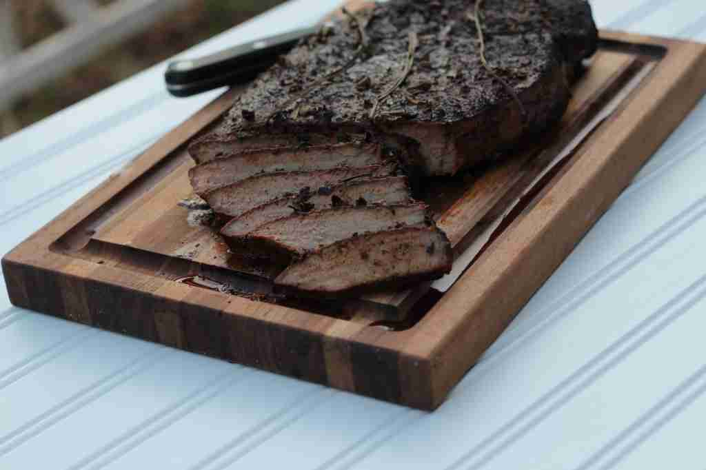 Photography:  Smoked Top Round Steak