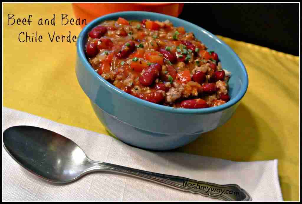 Beef and Bean Chili Verde