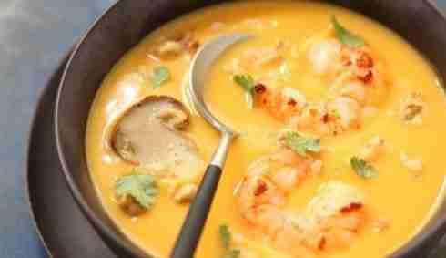 Cajun Pumpkin Soup from The Hungry Belgian