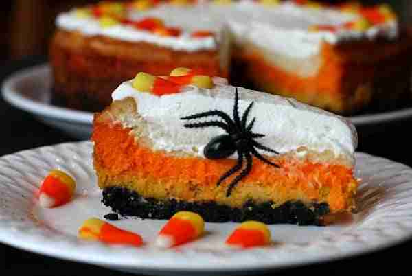 Candy Corn Cheese Cake from Recipe Girl