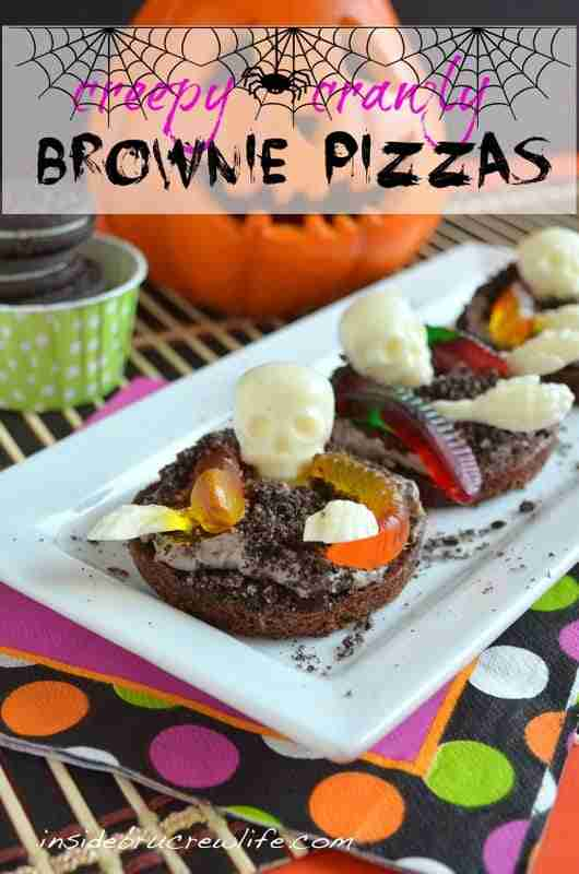 Creepy Crawly Brownie Pizzas from Inside BruCrew Life
