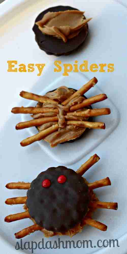 Easy Halloween Spider Cookies from Slap Dash Mom