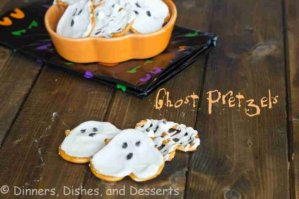 Ghost-Pretzels from Dinners Dishes and Desserts