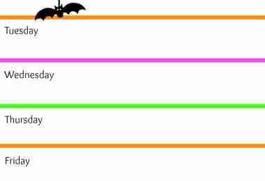 Halloween Daily Schedule